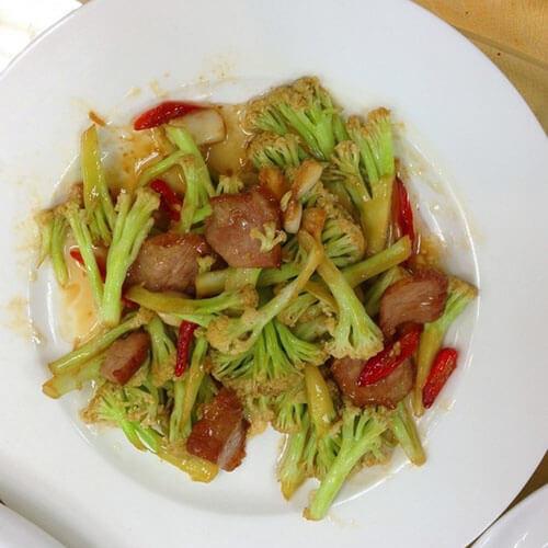 肉圆烧有机花菜