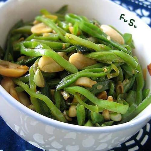 花生米炒梅豆