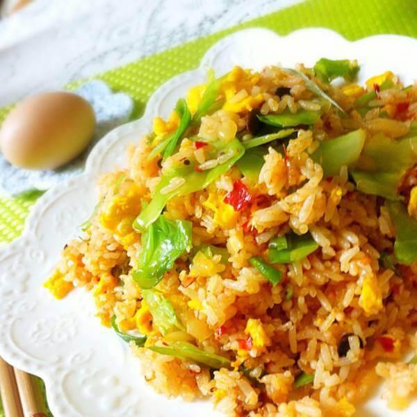 美味的韩式杂菜炒饭