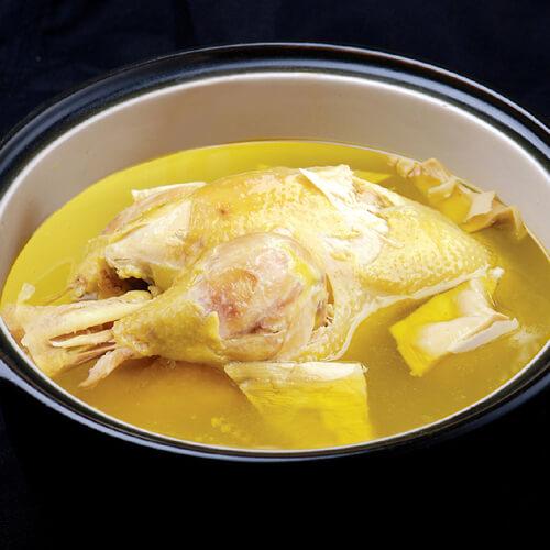 菜杆炖鸡汤