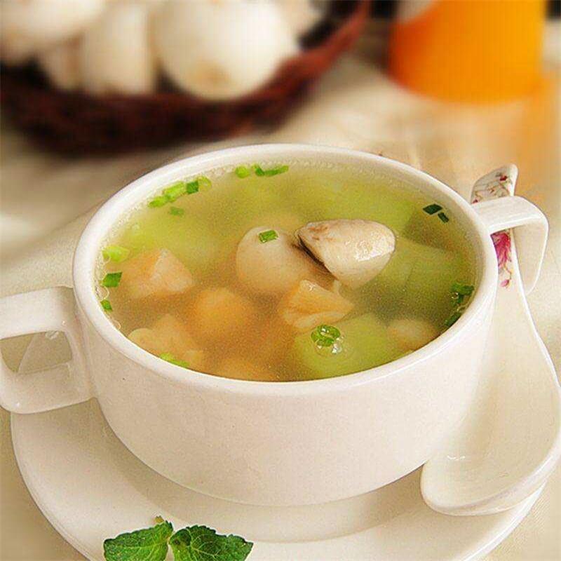 莴苣鱼丸汤