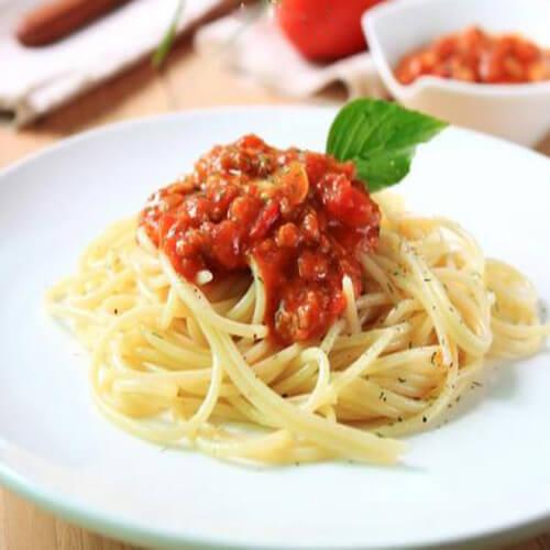 番茄肉丁意大利面
