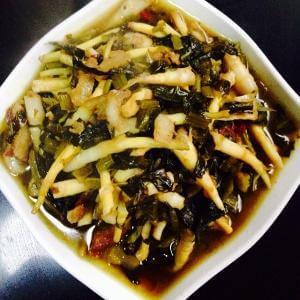 雪菜炒芦笋