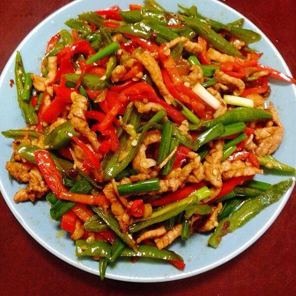 肉炒青辣椒