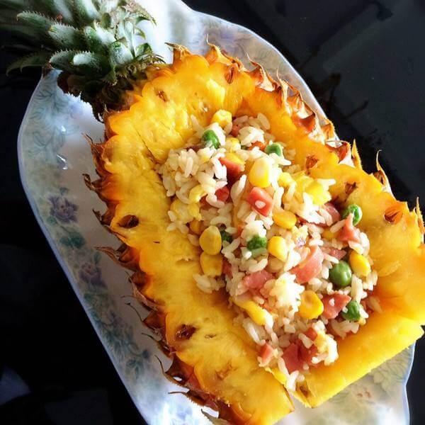 美味混搭菠萝饭