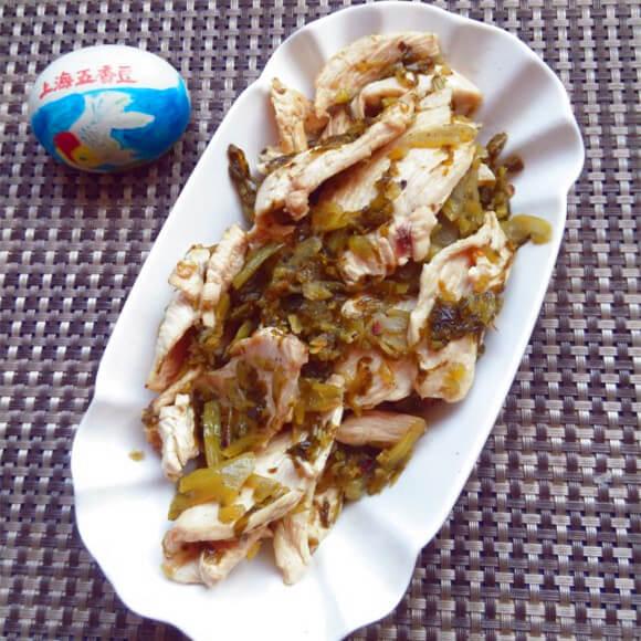 美味的私房雪菜鸡片