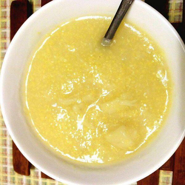 香葱白菜玉米糊