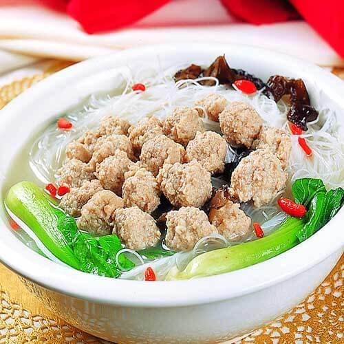 生汆丸子粉丝汤