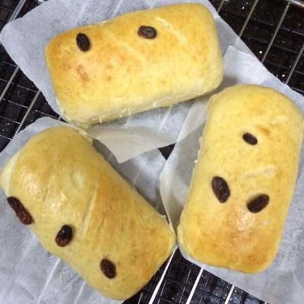 胡萝卜汁葡萄干面包