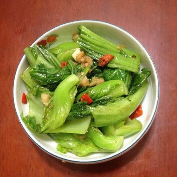 豆豉鲮鱼炒芥菜