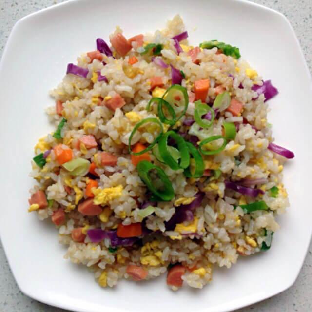 蔬菜火腿蛋炒饭