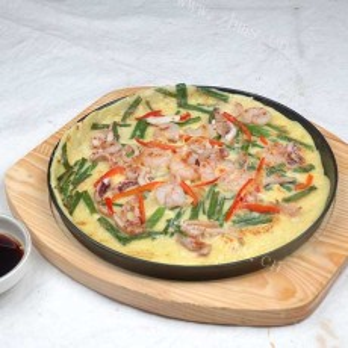 韭菜海鲜煎饼