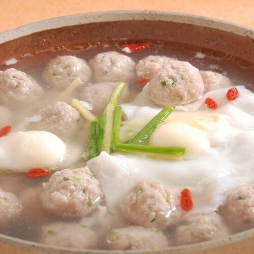 小白菜粉丝肉丸汤