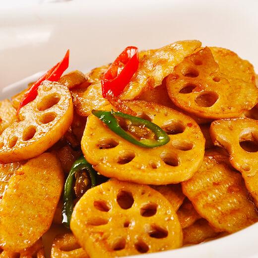 姜片醋烧藕片