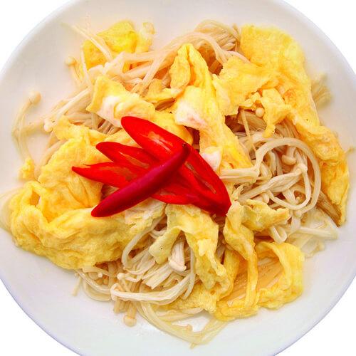 辣子鸡蛋炒火腿