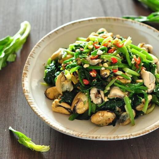 海虹拌菠菜