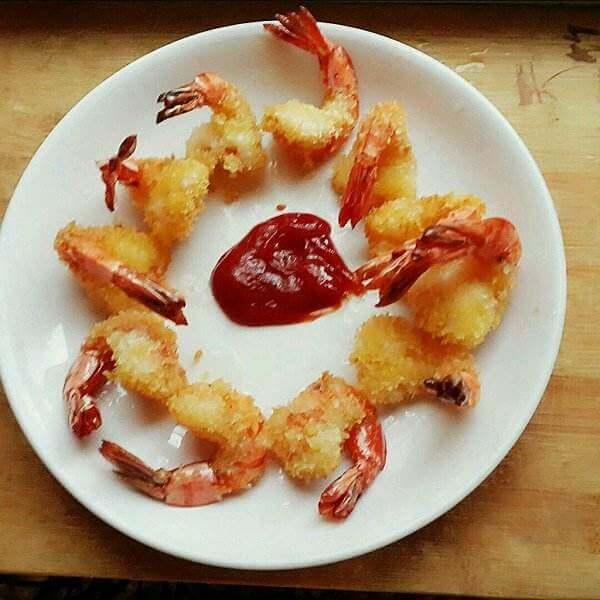 彩椒椰奶虾