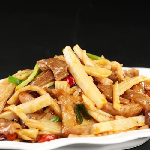 咸菜炒笋片
