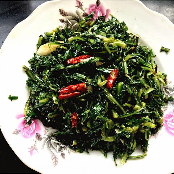 小咸菜拌苦菜