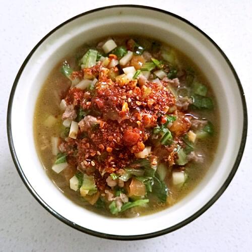 牛肉臊子饭