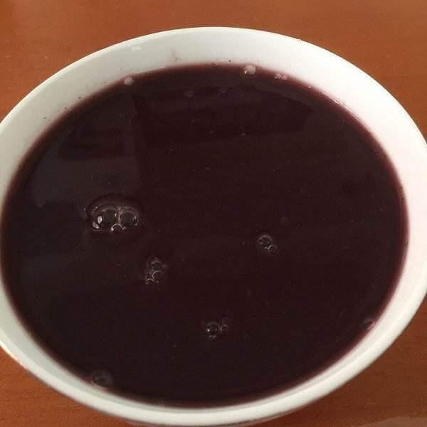 紫薯黑米芝麻糊