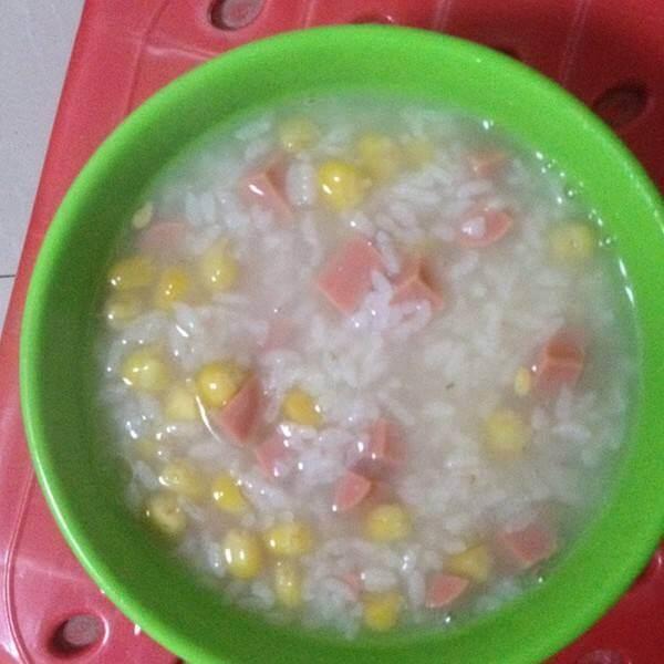 油麦菜火腿粥