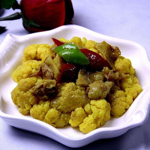 红咖喱烧菜花