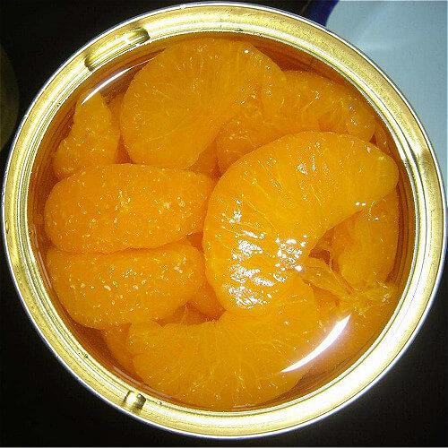 冰镇糖拌橘子罐头
