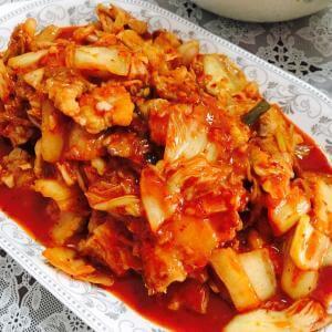 辣白菜烧虾