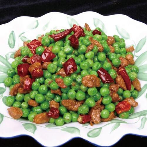 常吃不腻的豌豆小炒