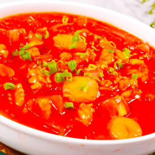 西红柿冻豆腐