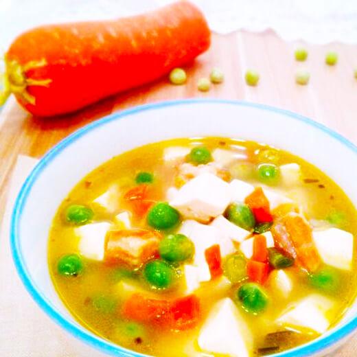 虾仁什锦豆腐