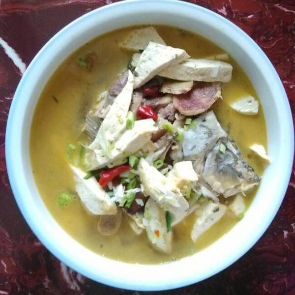 菌类鱼排汤