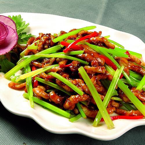 小菌菇炒肉丝