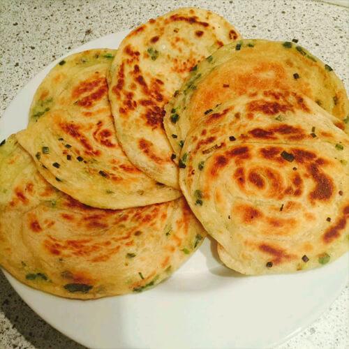 香烤葱花饼