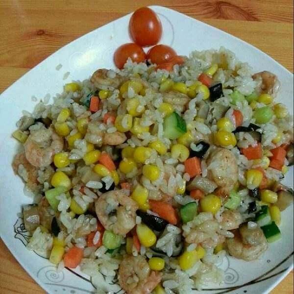 好吃的虾油海带炒饭