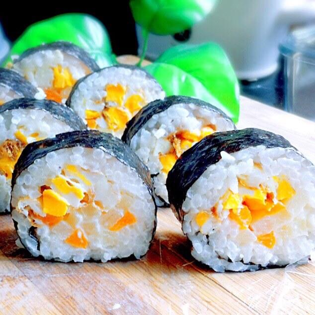 【手工美食】好吃的土豆鸡蛋寿司