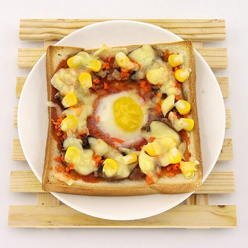 土司煎蛋配芦笋