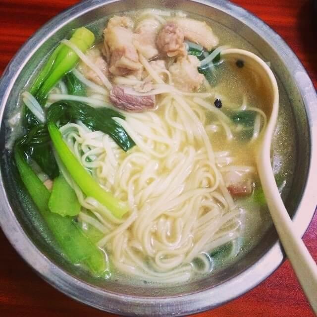 #记忆#生菜肉片挂面
