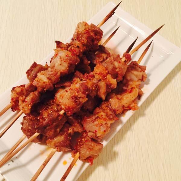DIY美食-生烤羊肉串