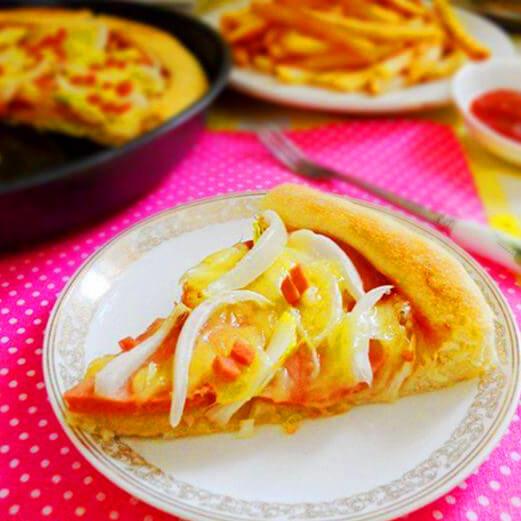 火腿洋葱披萨