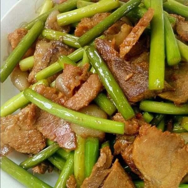 青椒香干炒咸肉