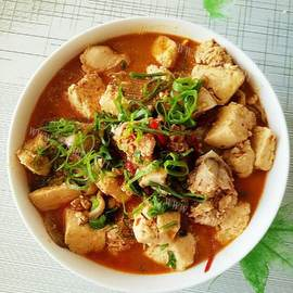 石榴红炖豆腐