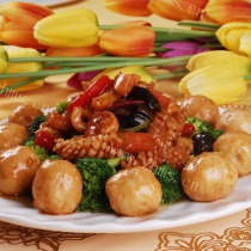 海鲜烩素菜