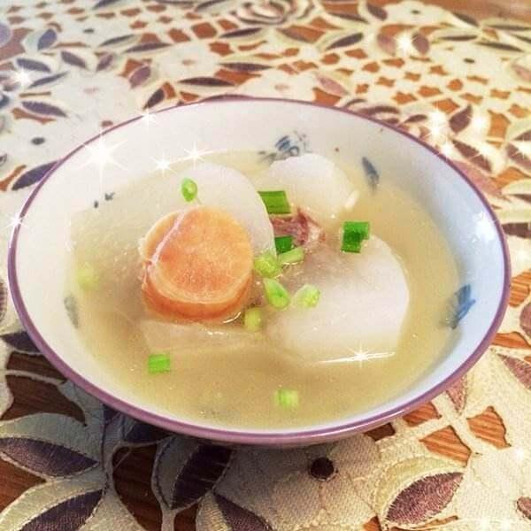 大虾鱼丸萝卜汤