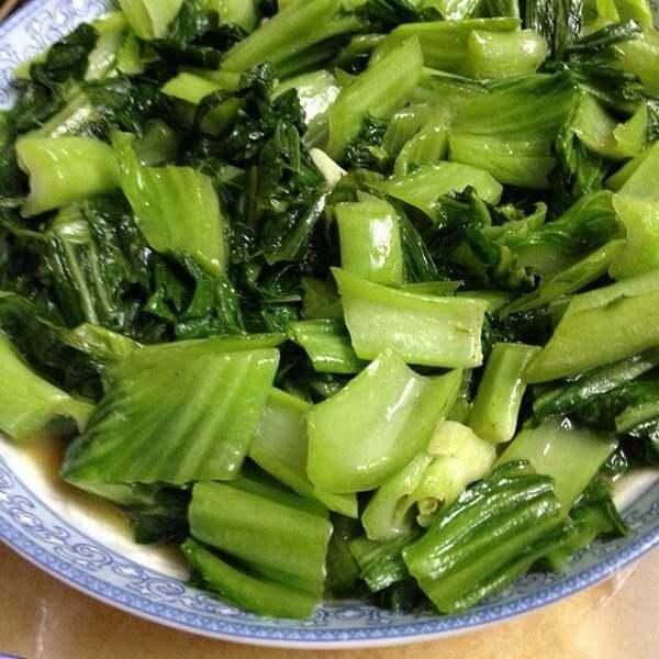 小河虾炒芥菜