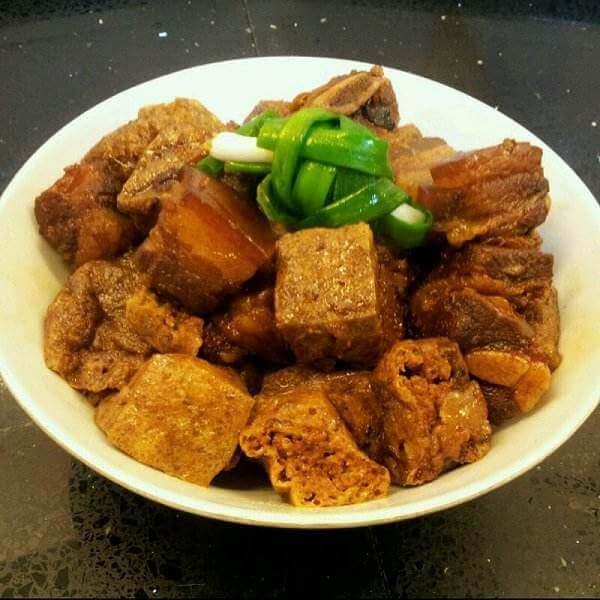 毛白菜炒油豆腐