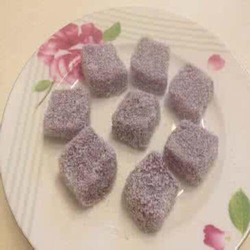 最爱的紫薯凉糕