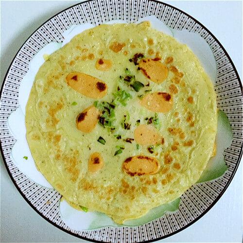 香葱虫草菇煎饼