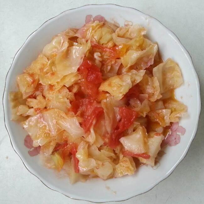 西红柿包菜